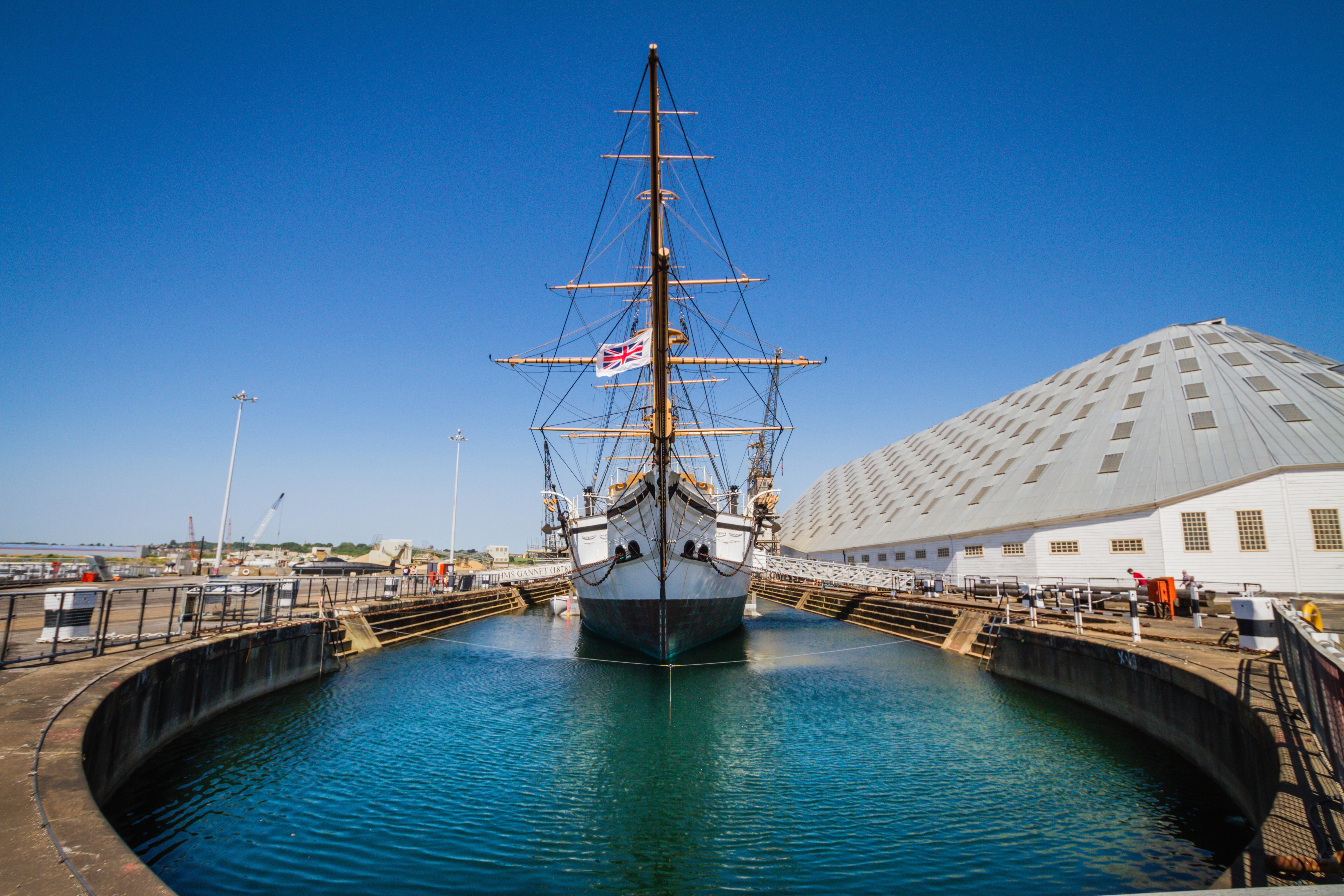 HMS_Gannet_Chatham_Historic_Dockyard