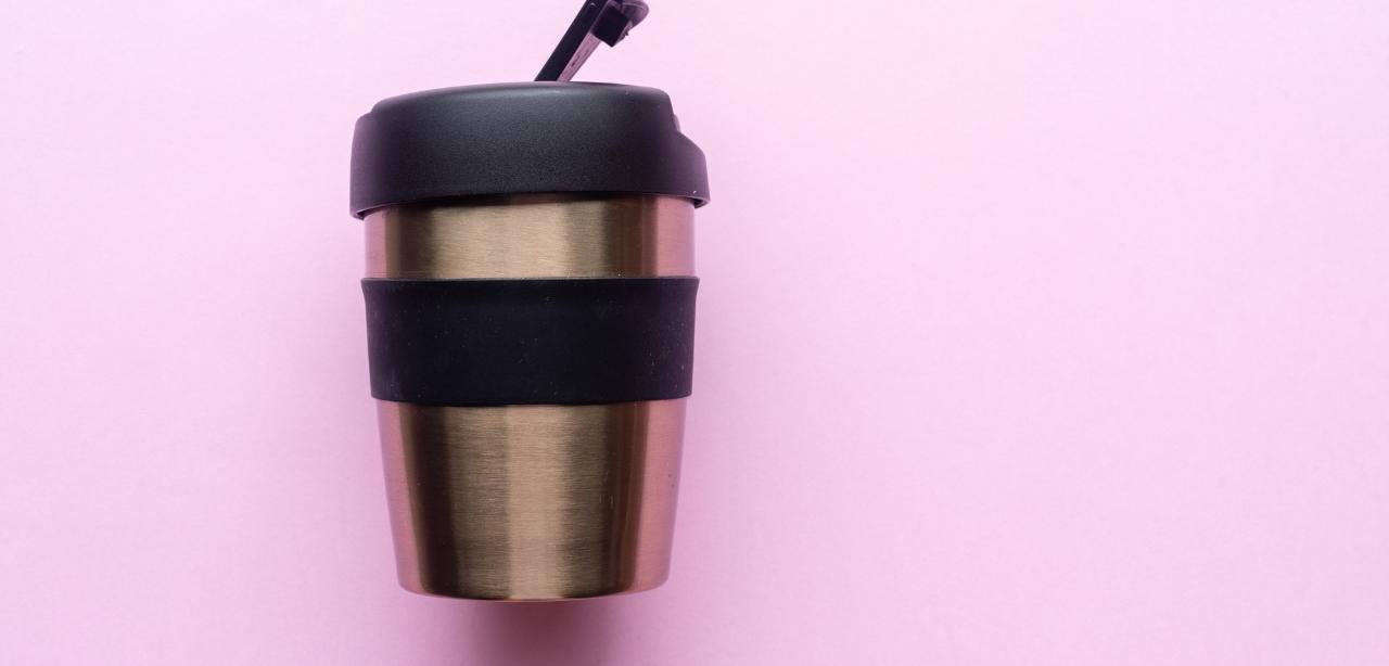 A reusable cup