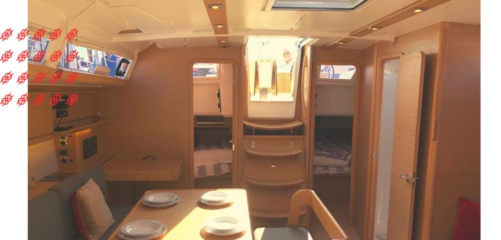 Dufour 430 interior