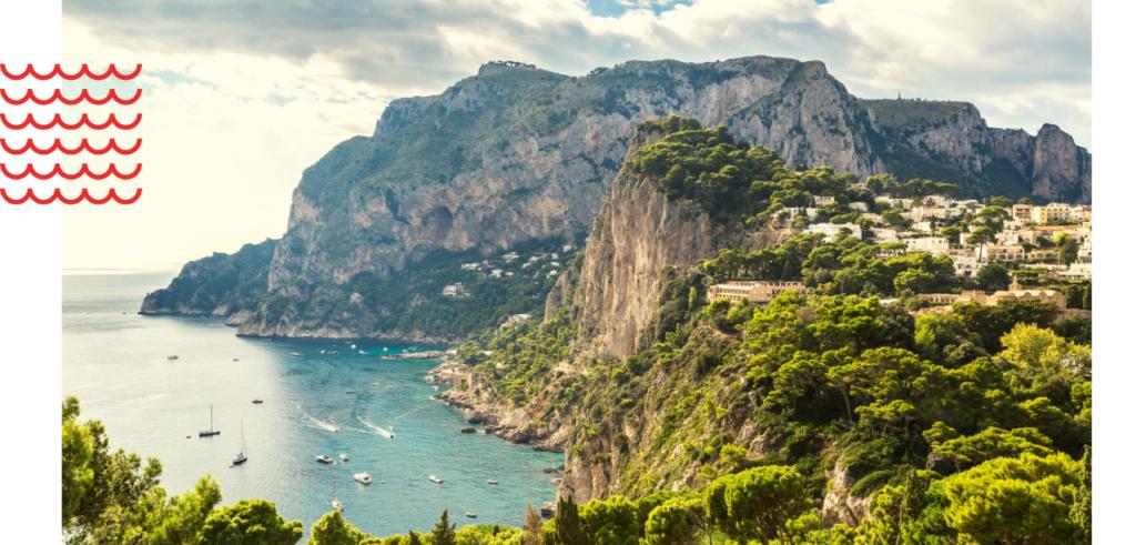 Sail to Capri island in Italy